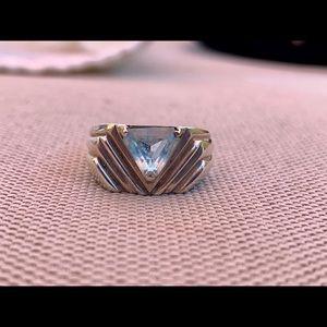 Vintage Sterling Blue Topaz Ring